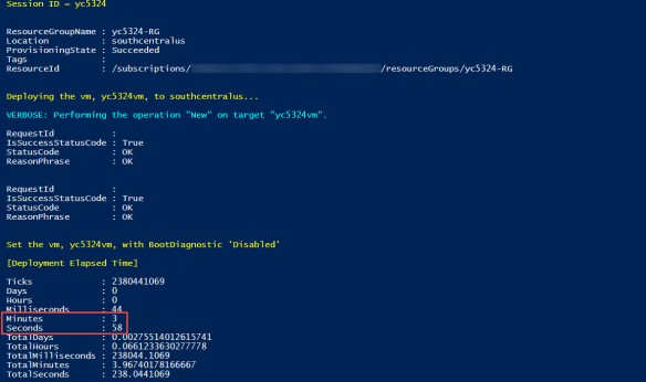 Deploying Azure VM and setting Boot Diagnostics as disabled